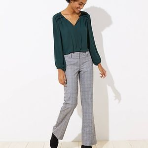 LOFT Women's NWT Trousers in Plaid in Marisa Fit
